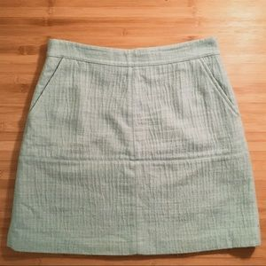 Zara Basic Blue/Aqua Skirt
